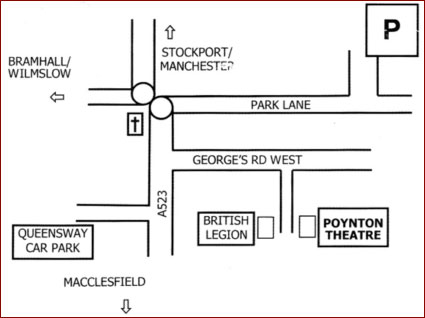 Poynton Players Theatre Location Map